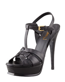 New Tribute Platform Sandal, Black