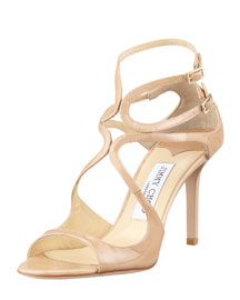 Ivette Strappy Patent Sandal