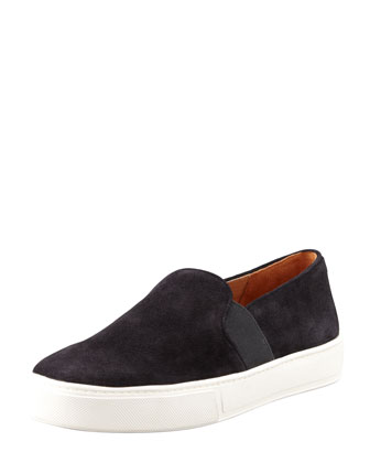 Blair Suede Slip-On Sneaker, Black