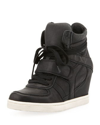 Cool Ter High-Top Wedge Sneaker, Black