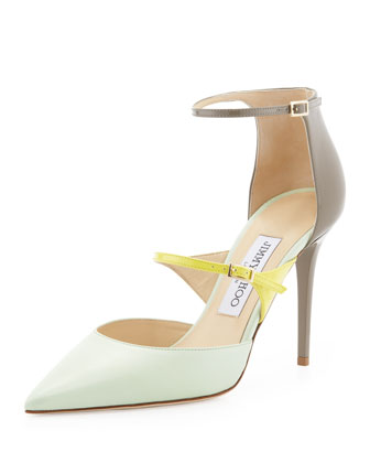 Typhoon Colorblock Mary Jane Pump, Lime