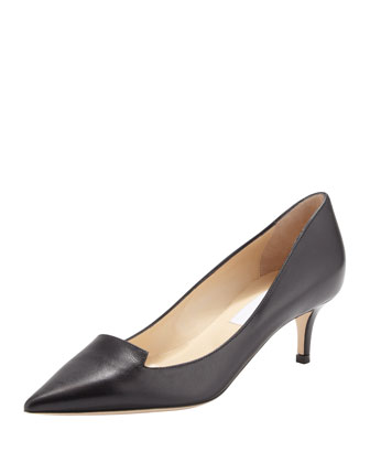 Allure Notched Point-Toe Pump, Black