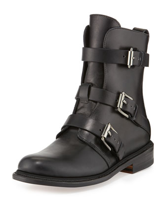 Hudson Short Buckled Moto Boot