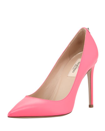 New Plain Pointed-Toe Pump, Fuchsia