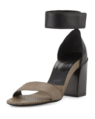 Chunky Single-Band Snake Sandal