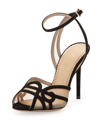 Sugar High Suede Swirl Sandal