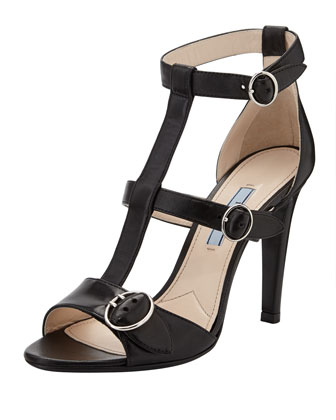 Buckled High-Heel Gladiator Sandal