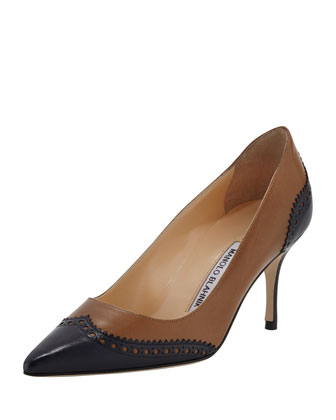 Ancor Two-Tone Spectator Pump, Medium Brown
