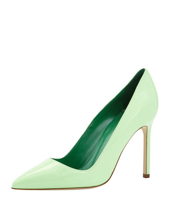 BB Patent Point-Toe Pump, Light Green