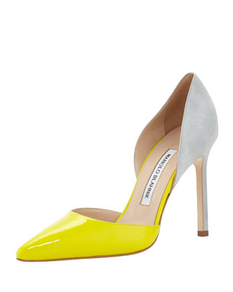 Tayler Pointed Combo d'Orsay Pump, Light Green
