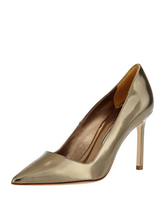 BB Metallic Point-Toe Pump, Bronze