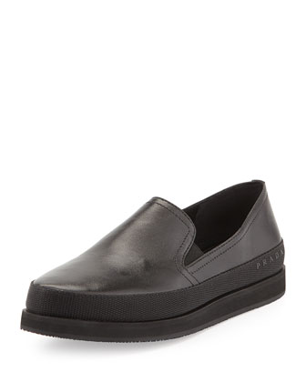 Chunky Napa Leather Slip-On
