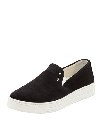 Suede Skate Shoe, Black