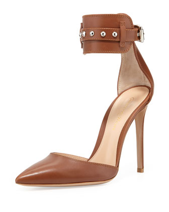 Studded-Ankle-Cuff Pump