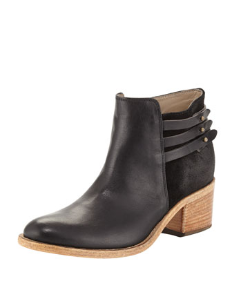 Saltara Back-Strap Combo Ankle Boot, Black