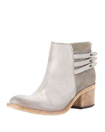 Saltara Back-Strap Combo Ankle Boot, Gray