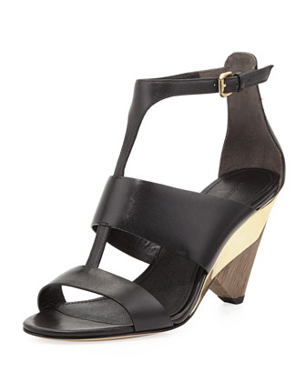 Dance T-Strap Wedge Sandal