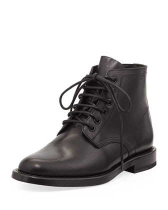 Lace-Up Leather Jodhpur Boot