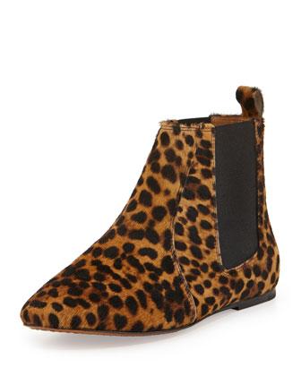Dewar Leopard-Print Calf Hair Bootie