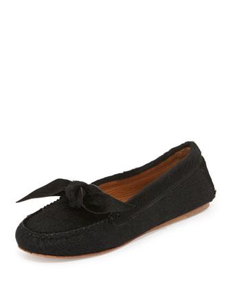 Moore Lamb Hair Loafer, Black