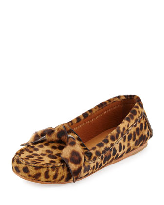 Moore Leopard-Print Calf Hair Loafer