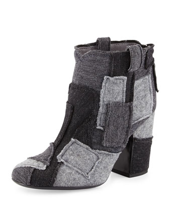 Pete Patchwork Ankle Boot