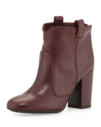 Pete Leather Ankle Boot, Wine