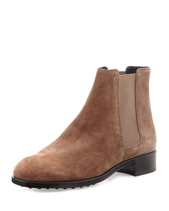 Suede Chelsea Boot, Taupe