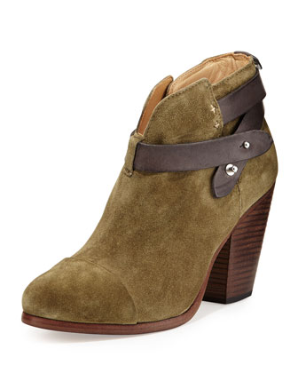 Harrow Suede Ankle Boot, Olive