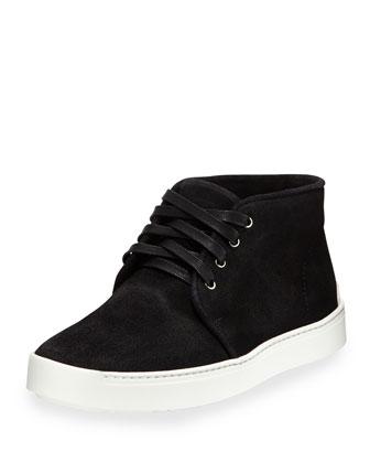 Kent Waxed Suede Desert Boot, Black