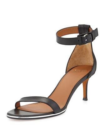 Nadia Low-Heel Ankle-Strap Sandal