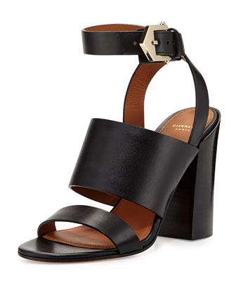 Sara Chunky Ankle-Wrap Sandal