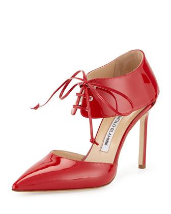 Adina Patent Ankle-Cuff Sandal