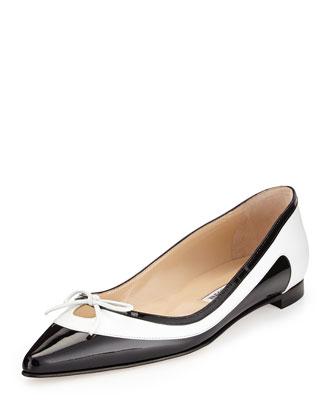 Aterf Bicolor Combo Flat, Black/White
