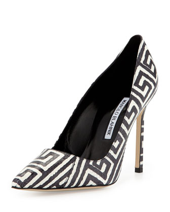 BB Printed Snake Pump, Black/White