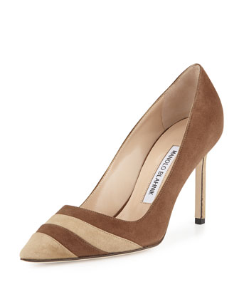 BB Two-Tone Suede Pump