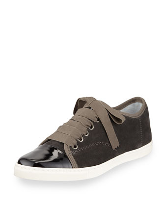 Suede Cap-Toe Low-Top Sneaker