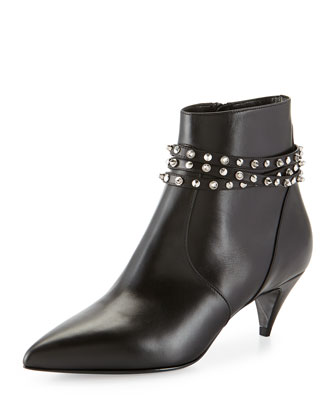Studded-Strap Ankle Boot