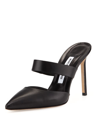 Trovina Leather Point-Toe Mule