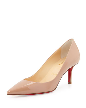 Apostrophy Pointed Red-Sole Pump, Neutral