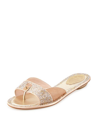 Python and Crystal Slide Sandal