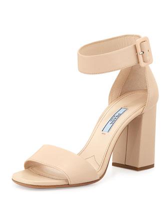 Chunky Ankle-Strap Sandal, Petal