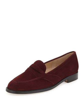 Consulta Suede Penny Loafer, Black