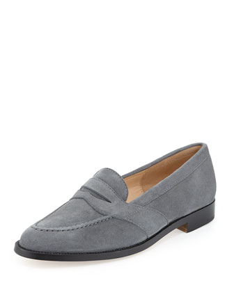 Consulta Suede Penny Loafer, Gray