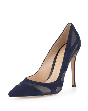 Bicolor Butterfly Combo Pump, Denim