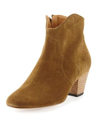 Dicker Suede Ankle Boot, Medium Brown