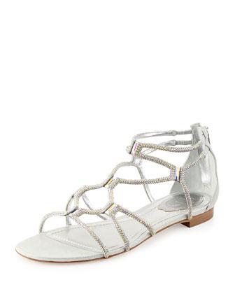 Aurora Boreale Crystal Gladiator Sandal