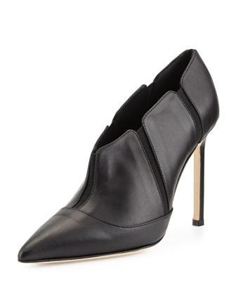 Desolada Stretch-Inset Ankle Boot, Black