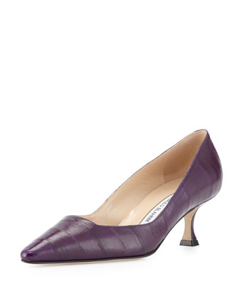 Twixpla Low-Heel Eel Pump, Purple