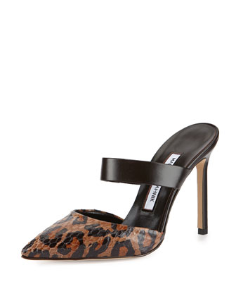 Trovina Snake-Toe Mule, Brown